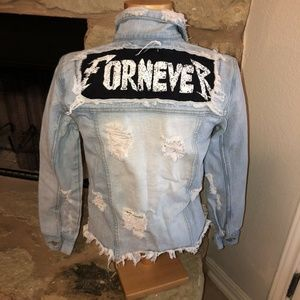 """Urban Outfitters UNIF """"Fornever"""" Denim Jacket M"""